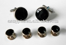 metal cuff links with clothes metal fashion button