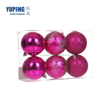 Wholesale Colourful Clear Cheap Plastic Hanging Ball , Xmas Plastic Decorative Ornaments
