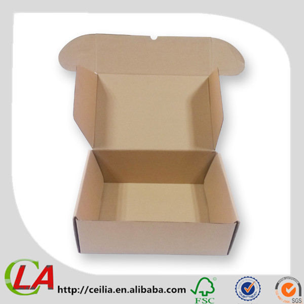 Flip Top Design Kraft Brown Nature Paper Shoes Packaging Boxes