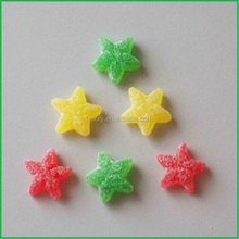 Sweet Star Shaped Soft Gummy Jelly Candy Coated With Sugar Mix Fruit Flavor