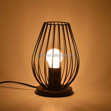 Chalice-shaped Newton Promotion cheap olive style metal wire shade decorative table lamp