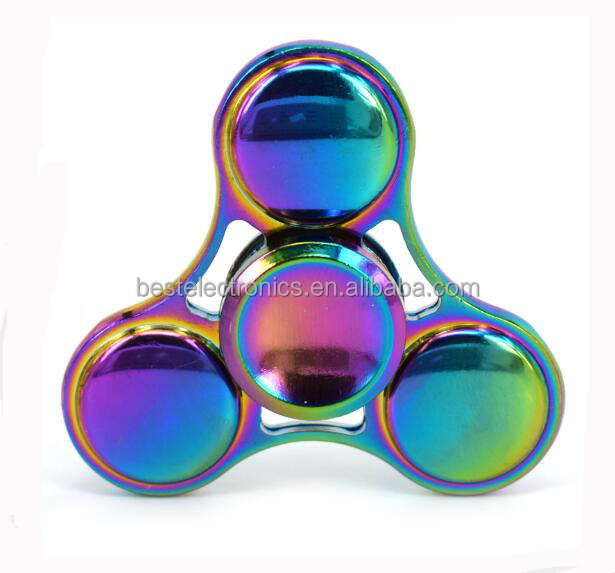 2017 Hot Sales EDC Metal UFO Colorful Hand Spinner Fidget <strong>toys</strong> Ceramic Finger Hand Focus Ultimate Spin Stress Reduce <strong>Toys</strong>