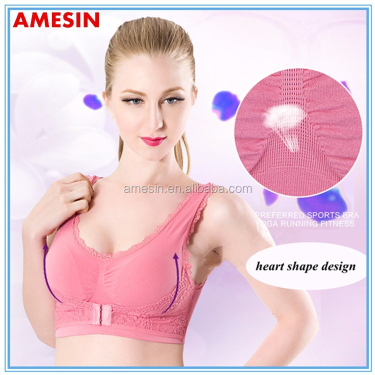 Bra For Indian Women Design Padded Yoga Lace Bra Free Samples