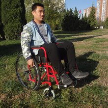 Cerebral palsy wide wheels patient transport wheelchair photos