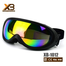 black frames clear lens mountain bike motrocycle goggles