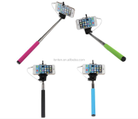 New Z07-5S Extendable Handheld Selfie Stick Self-timer Wired Control Monopod Tripod + Cell Phone Clip Holder For iPhone Samsung