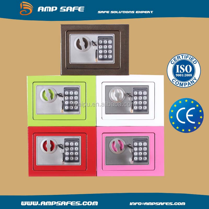 optional colors promotion mini digital electronic safety box / mini digital safe wholesale with cheap price