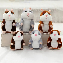 Cute Walking Repeat Talking Hamster Mimicry Pet Toy Sound Record Hamster Plush Toy For Kids Gifts