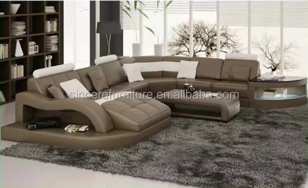Couch Drawing latest design leather sofa for drawing room with curved sofa