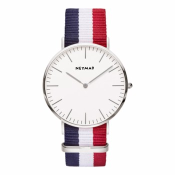 Multi-color Nylon strap nato mens wrist watch dial engraving watch OEM