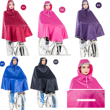 high quality rain cape pvc plastic waterproof poncho for bicycle