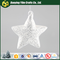Five-pointed star large outdoor christmas decorations hanging glass ball for plants