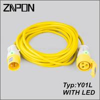 Y01L Britain Extension Cord With Led