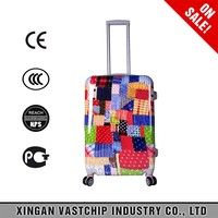 2016 fashion trolley luggage ABS +PC 2pcs travel suitcase set