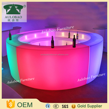 Illuminated led plastic bar counter for sale