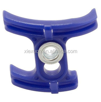 Aluminum gear cable guide bottom brackets