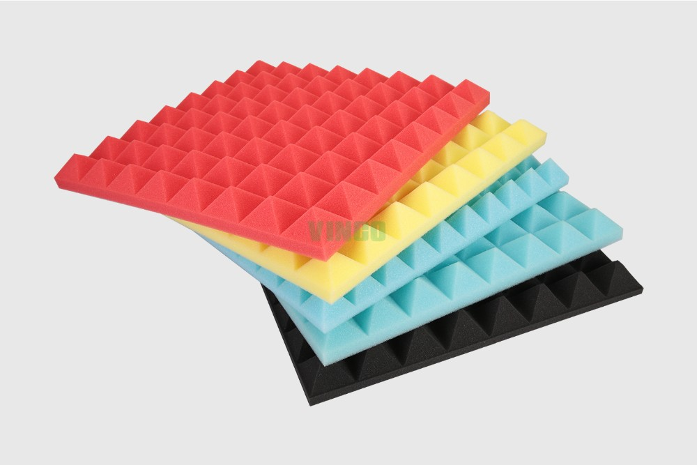 Foam Sound Insulation Panels : Pyramid style acoustic insulation foam wall panel buy