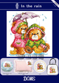 In the Rain Printed Canvas Counted Diy Chinese Cross Stitch Kits Printed Cross-stitch set Embroidery Needlework