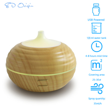 Ultrasonic Electric aroma USB perfume wood Air Humidifier Bamboo Wooden Grain Aromatherapy Essential Oil Diffuser With Cool Mist