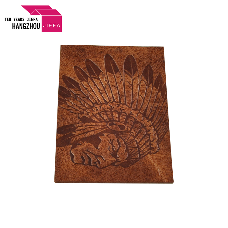 Brand Name Logo Embossed Leather Patch Label For Garment