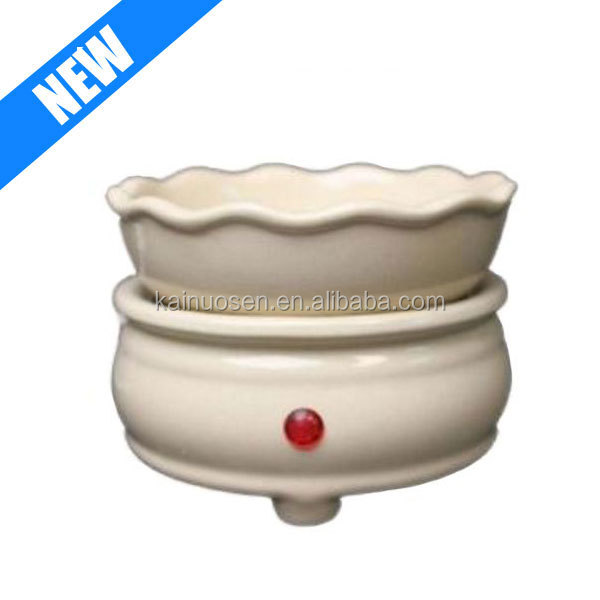 Electric 2 in 1 Candle Tart Warmer Ceramic Melts Wax And Oil Burner, Cream Color