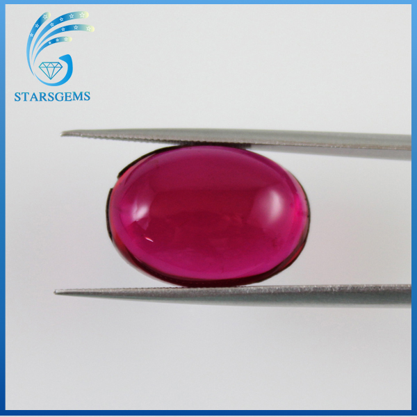 fashion jewelry wax setting ruby gemstone oval cabochon stone