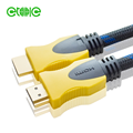 yitaili 5m 19+1 yellow double colors nylon braid 4k 1.4/2.0 hdmi cables
