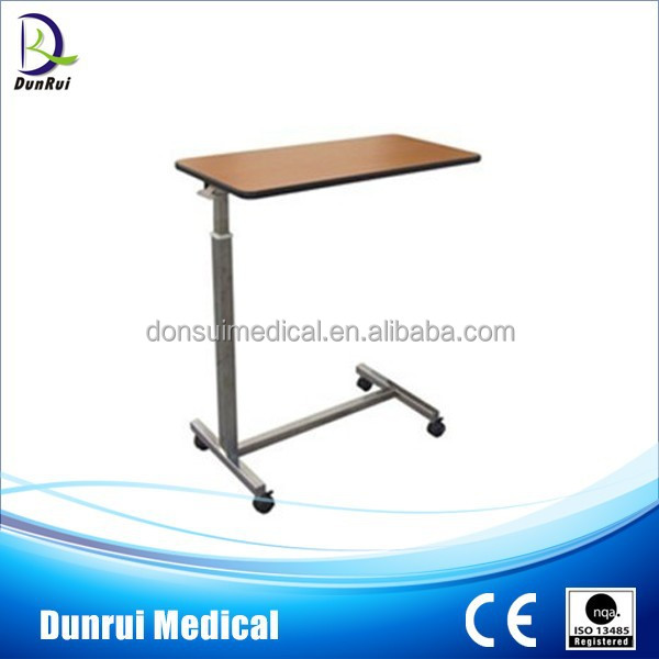 DR-501 CE Marked Economical Stainless Steel Hospital Over Bed Table