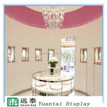 Luxury glass jewelry showcase and counter display for showroom furniture