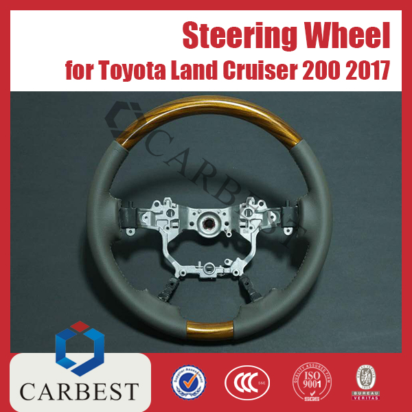 High Quality New 2017 Leather Steering Wheel For Toyota Land Cruiser LC200 2016