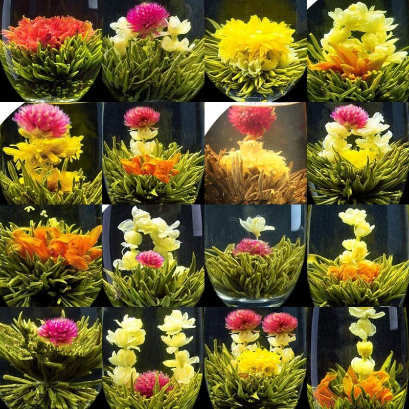 16 Kinds of Handmade Blooming Flower Tea Chinese Ball Blooming Flower Herbal tea Artificial Flower Tea <strong>Health</strong> Care Products 140g