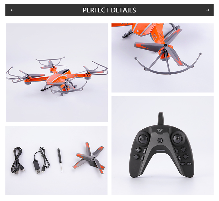 A8 2.4G 4 axis gyro rc dronewifi rc quadcopter with camera