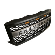 NEW 2016-18 Matte Black Front Grill <strong>W</strong>/Logo 3 Lights For Chevrolet Silverado 1500