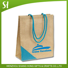 handle style jute shopping bag wholesale/carry bag wholesale