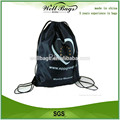 Hot sell cheap waterproof nylon gym sack drawstring bag promotional for sports and gym