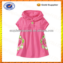 Custom Cartoon Dress for Children/Cartoon Characters Fancy Dress for Baby/Kids Girl Patches Dress Design