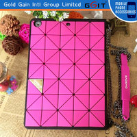 Newest Fashion Diamond Pattern Case For Ipad 5, Case With Strip For Ipad 5