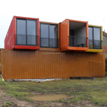 Two 40 feet shipping containers home Environmentally friendly future hybrid Modular banised Shipping container