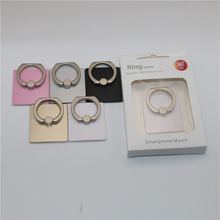 Universal plastic mobile phone finger ring holder stand for smart cell phone