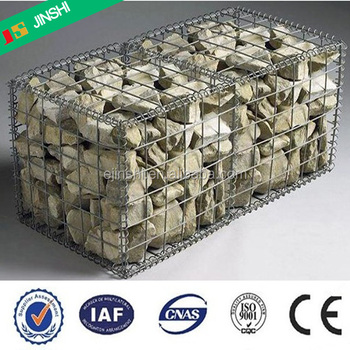 50x100mm mesh rockfall and soil protection galvanized welded stone gabion box