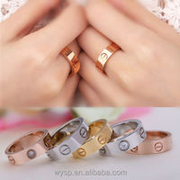 New Blast Celebrity Titanium Stainless Steel Rings wholesales with Carved Screw for Lover