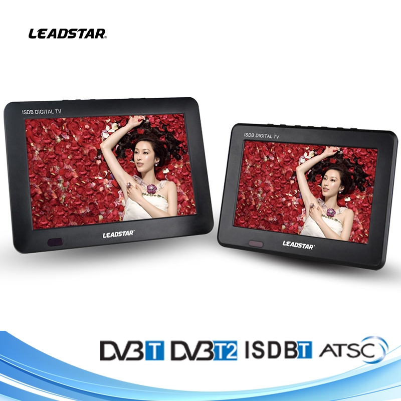 Slim 9 inch portable Turkey DVB-T2 digital TV with a headphone jack