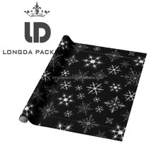 Wholesale Luxry Black Christmas Wrapping Paper, Christmas Gift Roll Wrap Paper