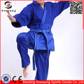 Martial arts judo uniforms 100% cotton blue judo gi fabric sale
