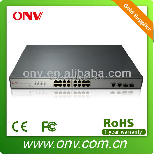 18-PORT 10/100M NETWORK POE SWITCH WITH 16-PORT POE