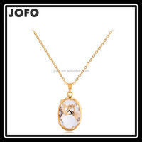 JOFO Brand High Quality Simple Lovely Water Drop Necklace With Bear On it