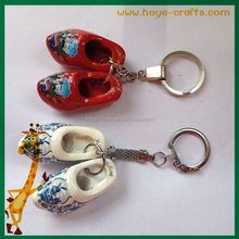 Wooden shoes Key chain cheap Clogs holland shoe Key chain