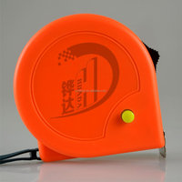 orange white ABS case measure tape,tape measure with black brake