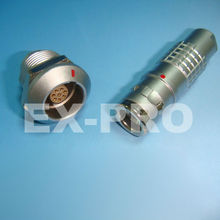 Lemo/Odu compatible 2K 8 pin waterproof connector for harsh environment