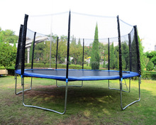 Hot Selling 8ft Kids Trampoline with protection net,Kids Spring Jumping Bed,CZA-005 Indoor Baby Bounce Bed with protection net